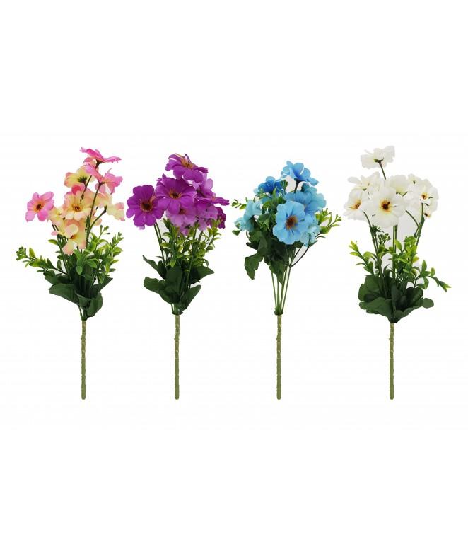 Bouquet de 12 flores. 4.8cm Ø x 28cm aprox - BOUQUET