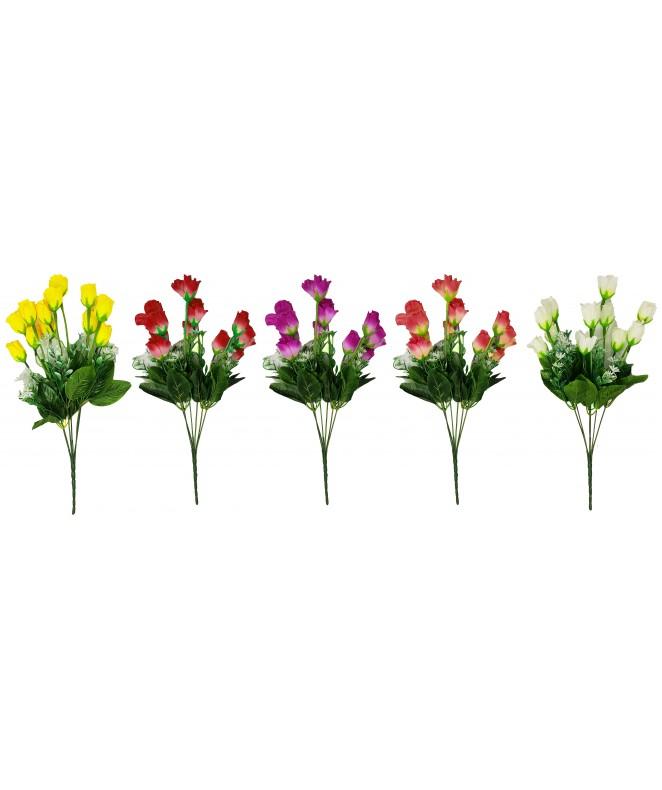 Bouquet de 10 rosas 2cm  x 28cm aprox - BOUQUET
