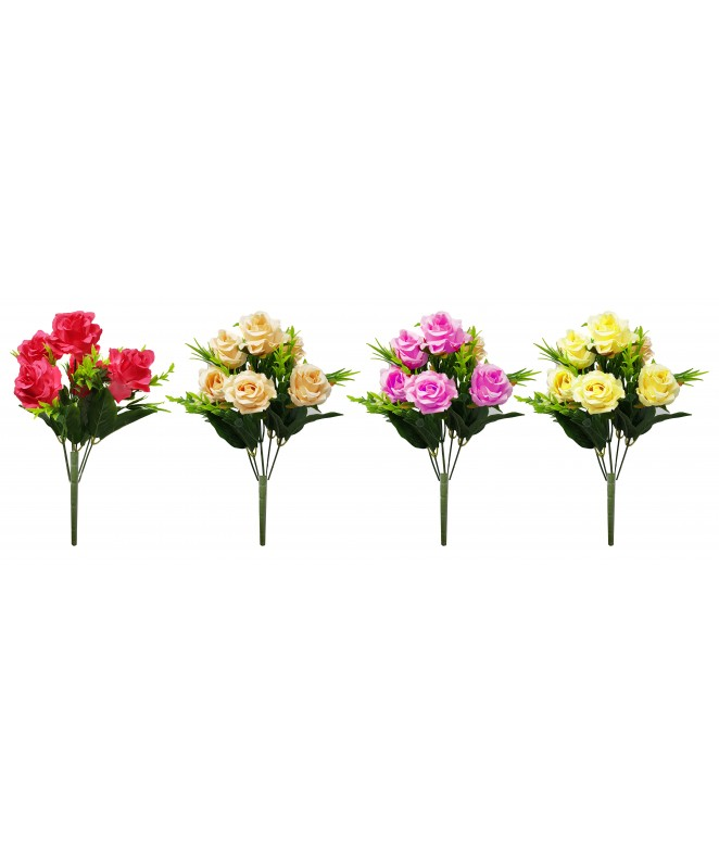 Bouquet de 6 rosas 5.5cm Ø x 35cm aprox - BOUQUET