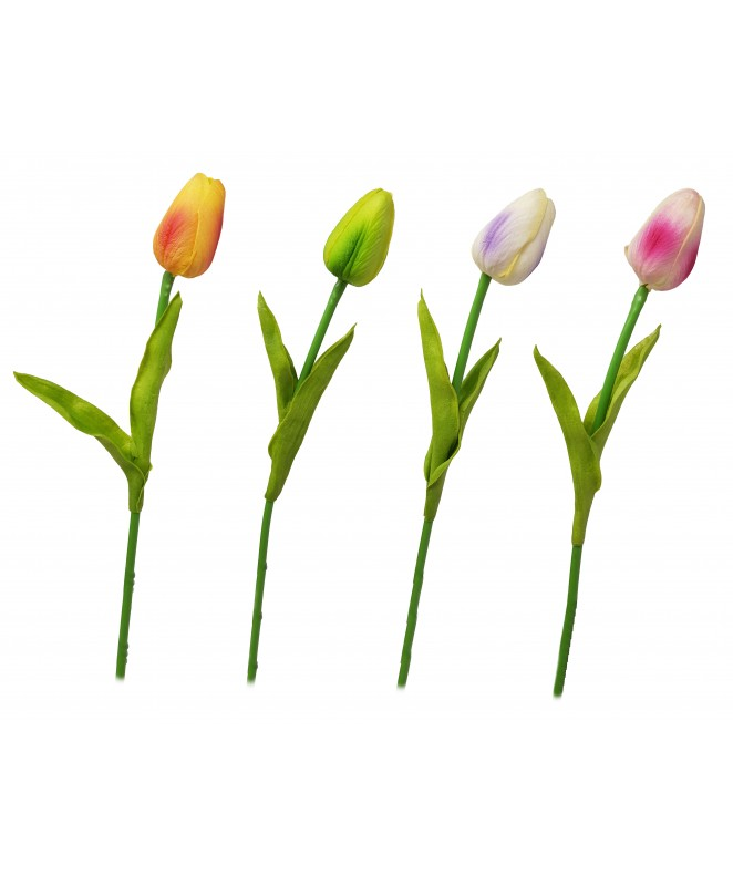 Tulipanes c/ hojas 33cm aprox - ROSAS