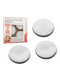 3 Cepillos de silicona de repuesto - MASAJEADOR EXFLOLIANTE