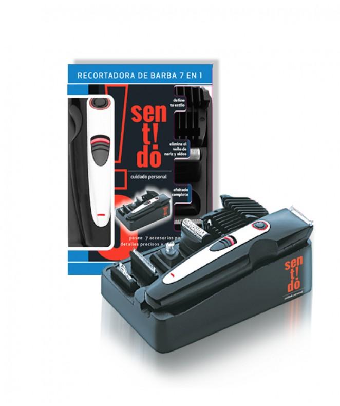Recortadora de barba 7 en 1 c/bateria recargable - AFEITADORAS MASCULINAS