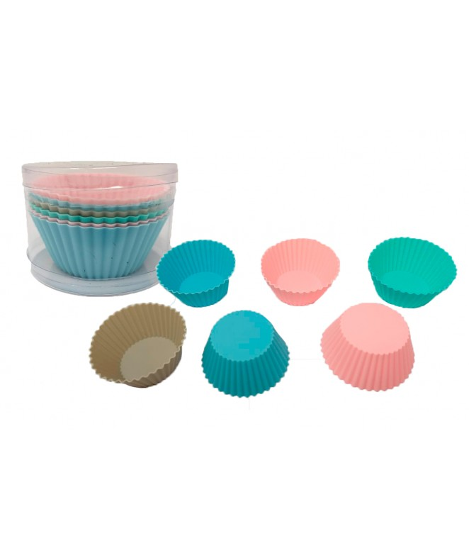 Set x6 moldes mini cakes 7cm aprox PVC - MOLDES DE SILICONA