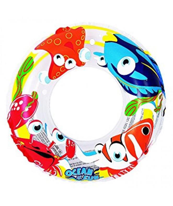 aro salvavidas c/pescaditos full color 50cm aprox -