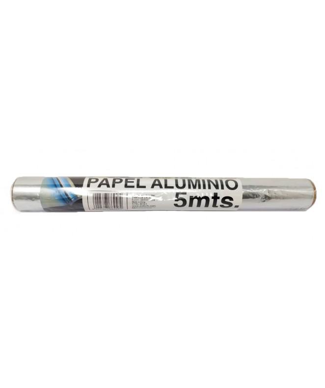 Papel aluminio 5mts aprox -
