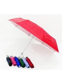Paraguas plegable liso c/int. metalizado- 53 CM - PARAGUAS
