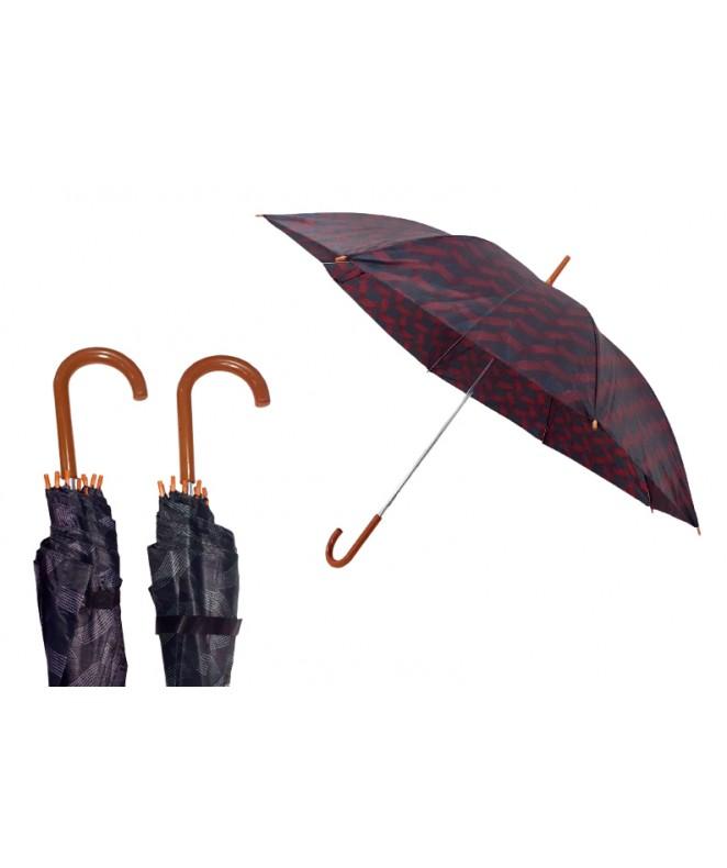 Paraguas aut. estampa entrelazada- 53cm aprox - PARAGUAS