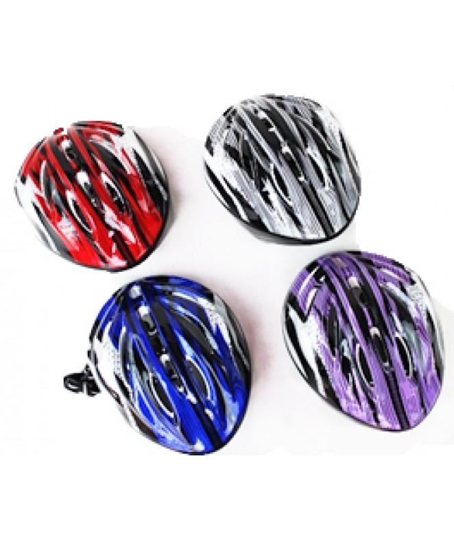 Casco decorado p/ bici/monopatin - 4 colores surt - JUGUETERIA