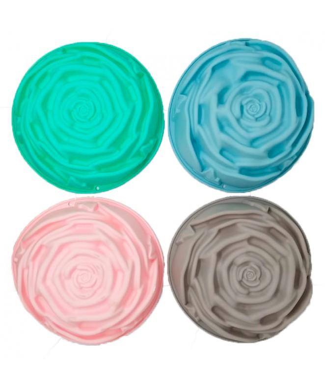 Molde silicona c/forma de rosa 24*7cm- pastel - MOLDES DE SILICONA