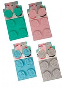 Molde de silicona rosa x6- 28.5x16.7cm - pastel - MOLDES DE SILICONA