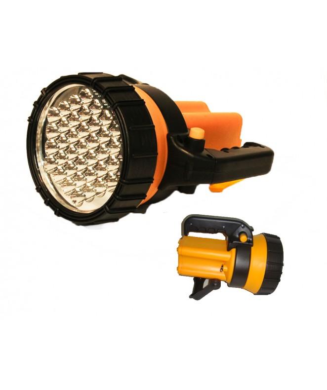 Linterna recargable. 37 LEDS. con reflector y bali -