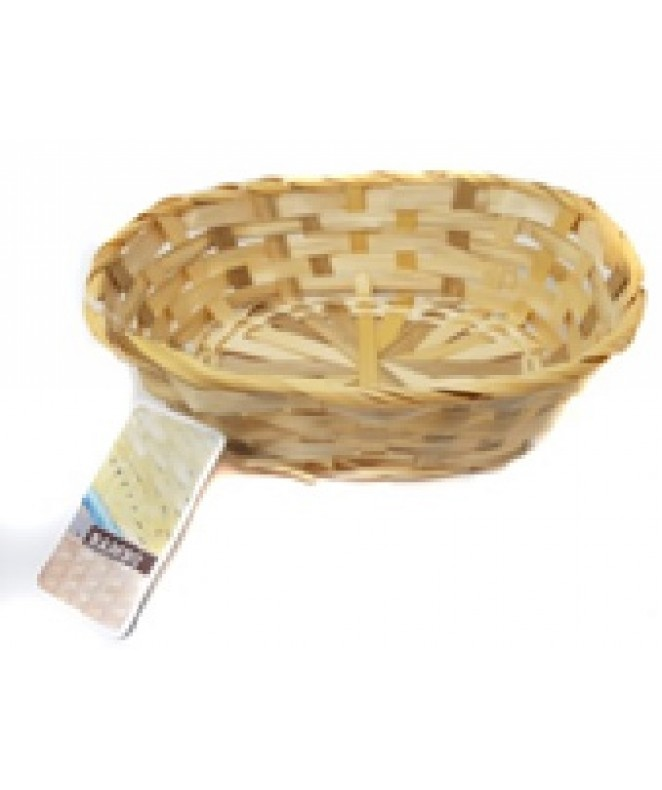 Panera oval bamboo 22x16cm - color natural - MIMBRE