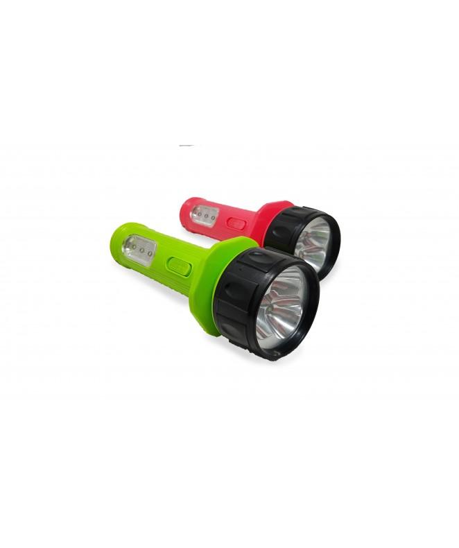 Linterna recargable c/6 leds y 2 funciones 20*6.3 -