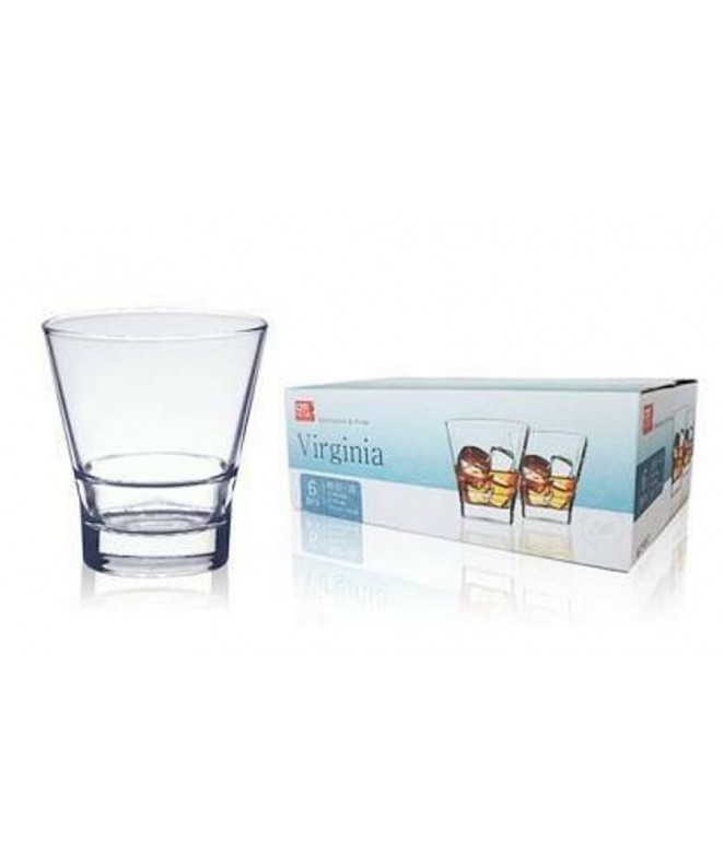 Px6 vasos whisky VIRGINIA 340ml aprox. - VASOS EN CAJA DE REGALO