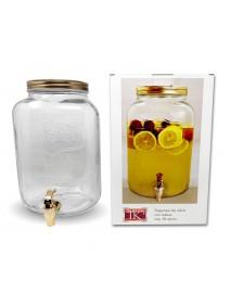 Dispenser de vidrio c/relieve -cap 8l aprox - DECANTADORES Y BOTELLONES