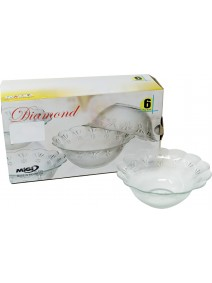 bowl x6 12.5cm aprox .DIAMOND.cja de regalo - ENSALADERAS COMPOTERAS Y BOWL