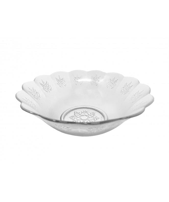 Bowl vidrio deco HOJAS 17.5cm aprox - ENSALADERAS COMPOTERAS Y BOWL
