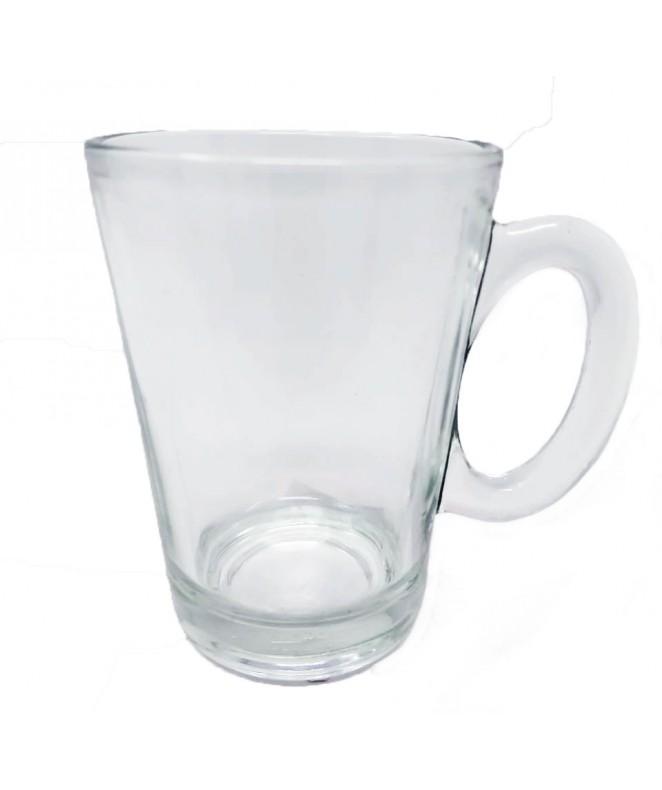 Jarrito café  vidrio transparente 200cc aprox - SET DE JUEGOS DE CAFE