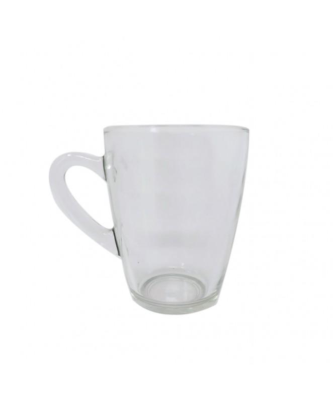Jarrito café  vidrio transparente 290cc aprox - SET DE JUEGOS DE CAFE