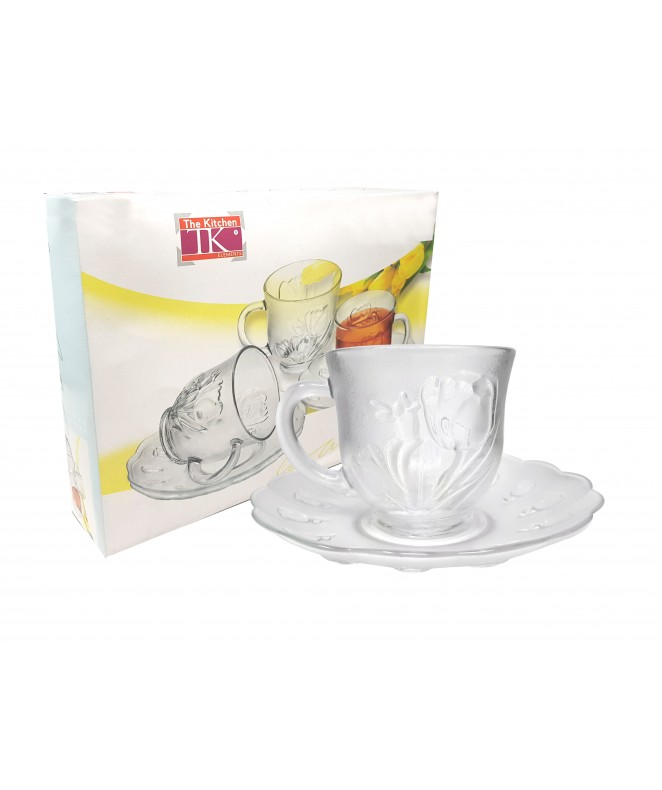 Set x6 tazas + platos de té  GALA 230ml aprox - TAZAS Y JUEGOS DE TE