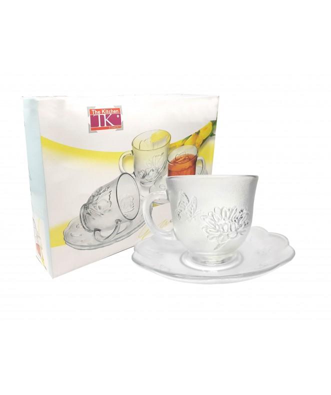 Set x6 tazas + platos de té  FRIDA 230ml aprox - TAZAS Y JUEGOS DE TE