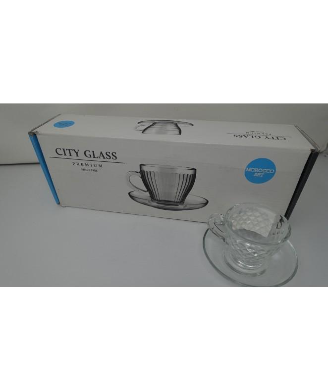 Set x6 tazas de café MOROCCO diamond 90ml ap - TAZAS Y JUEGOS DE CAFE