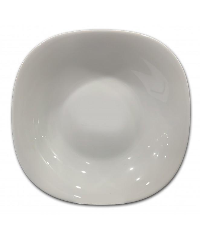Plato hondo ROMA 22.5cm aprox - vidrio opalino - LINEA ROMA