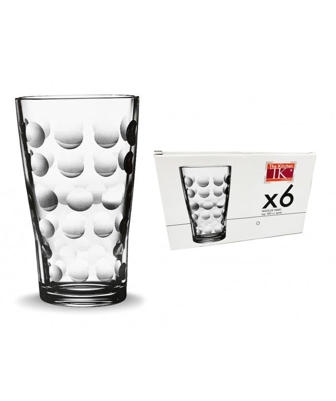 Px6 vasos t/l CAPRI 360ml ap caja regalo. - VASOS EN CAJA DE REGALO