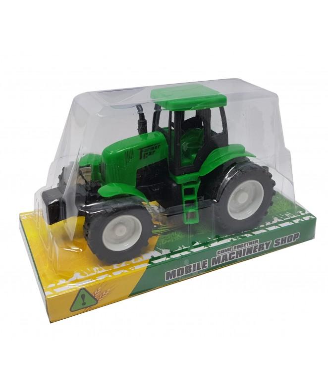 BU Tractor a fricción  16x9cm aprox - JUGUETERIA