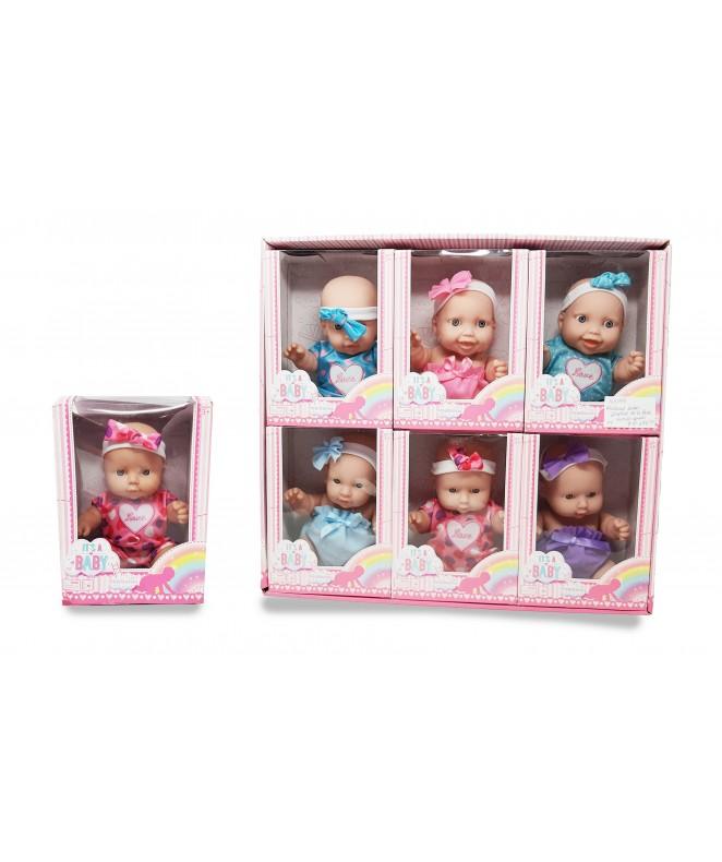 Muñecas bebes 10.en Display de 6 pzas/ 44*40  aprx - JUGUETERIA