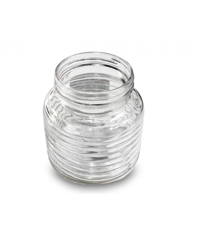 Tarro de vidrio  linea horizontal cap.700cc aprox - FRASCOS