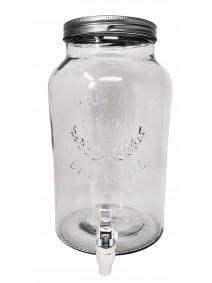 Frasco de vidrio c/dispenser -cap 5.5lt aprox - DISPENSER Y FRASQUITOS