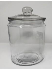 Tarro de vidrio c/tapa pompon - cap 1900cc aprox - FRASCOS