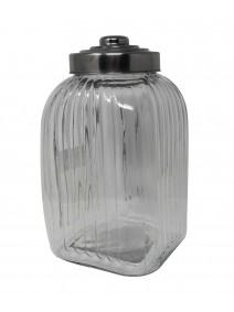 Tarro de vidrio c/tapa acero pompon- cap 4950cc - FRASCOS