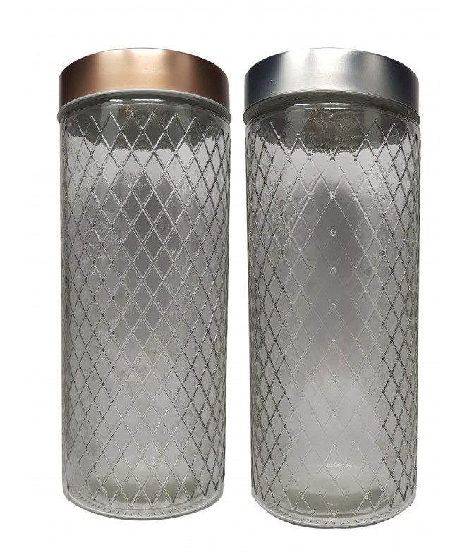 Tarro de vidrio romb tapa plat/cobre LYON-cap 2250 - FRASCOS