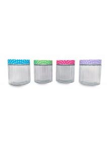 Tarro de vidrio en rel tapa puntos LILLE- cap 850c - FRASCOS
