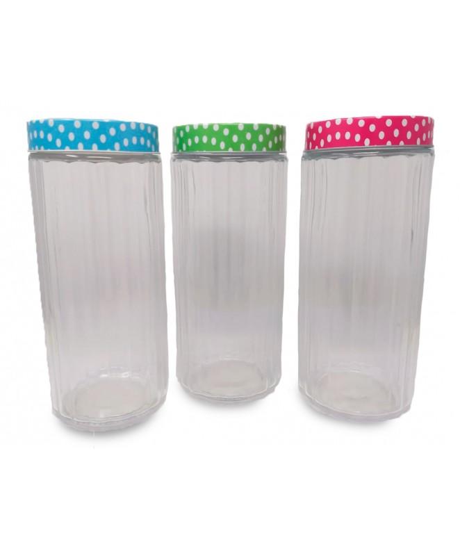Tarro de vidrio en rel tapa puntos LILLE- cap 2250 - FRASCOS