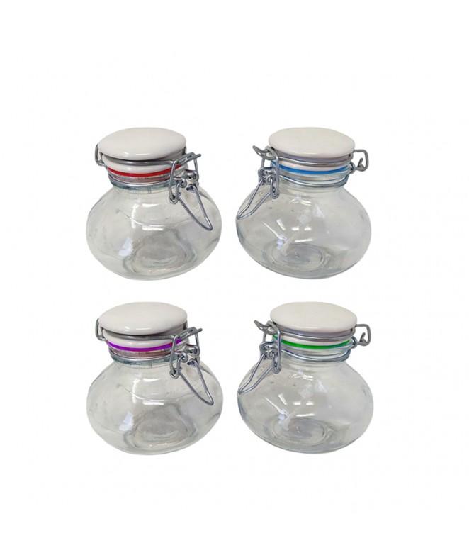 Tarro de vidrio c/cierre hermetico 150cc aprox - FRASCOS