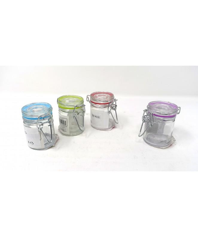 Tarro de vidrio con cierre hermetico 45cc aprox - FRASCOS