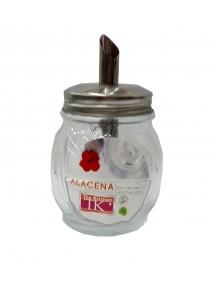Azucarera de vidrio c/tapa acero inox - cap 145cc - ESPECIEROS