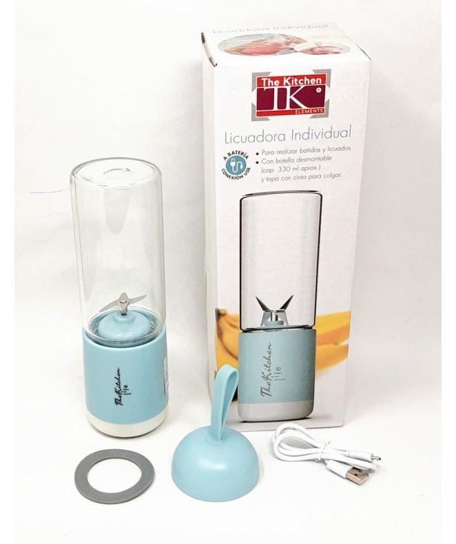 Licuadora individual Azul USB- c/botella 330cc - ACCESORIOS Y ELECTRONICA