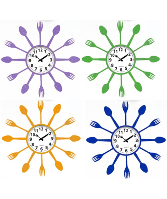 Reloj de pared plastico-35cm -4 mod surtidos - RELOJES