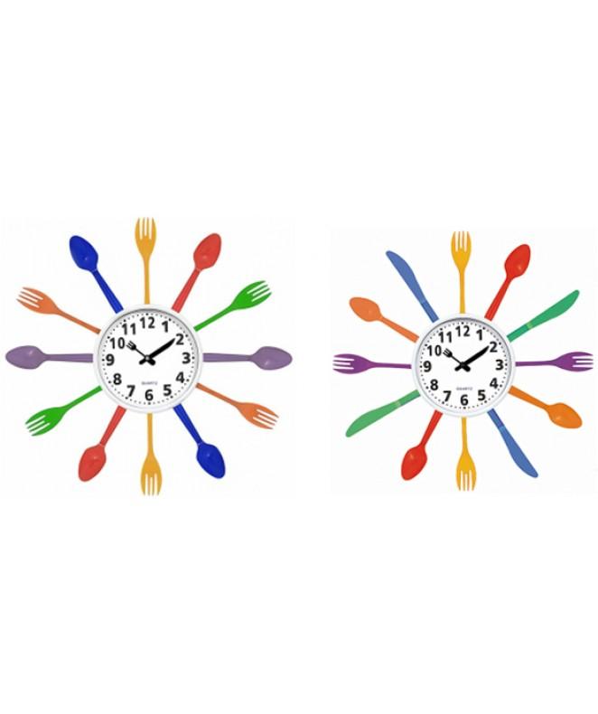 Reloj de pared plastico-35cm -3 mod surtidos - RELOJES