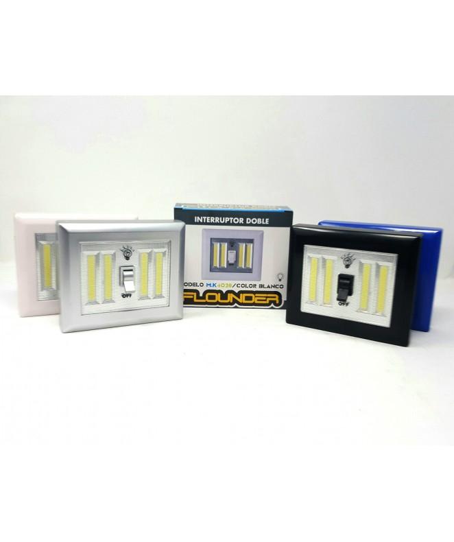Interruptor c/luz 3 watts - 4colores -4xAA (no inc -