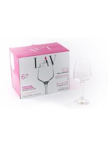 px6 copas LAL vino 295cc - COPAS EN CAJA DE REGALO