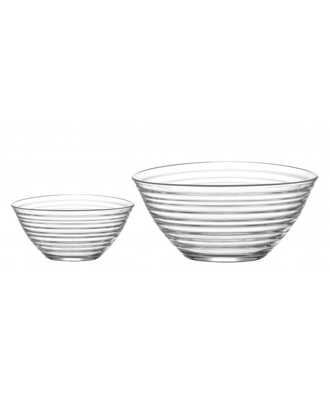 Jgo vidrio 7 pzas- 6 comp y 1 bowl DERIN - ENSALADERAS COMPOTERAS Y BOWL