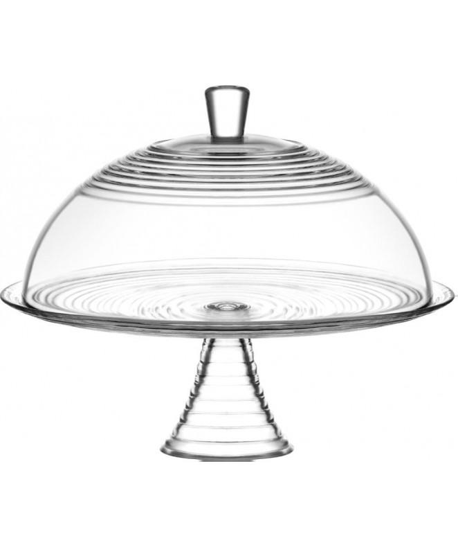 Cupula c/pie y tapa de vidrio DERIN 34.5cm aprox - VIDRIO