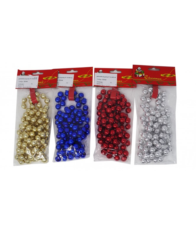 guirnalda de perlas Nº 14 420 cm dor/ro/az -
