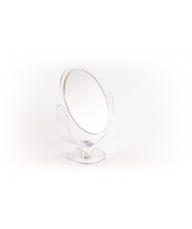 espejo doble faz oval c/ pie diam 17cm - ESPEJOS-