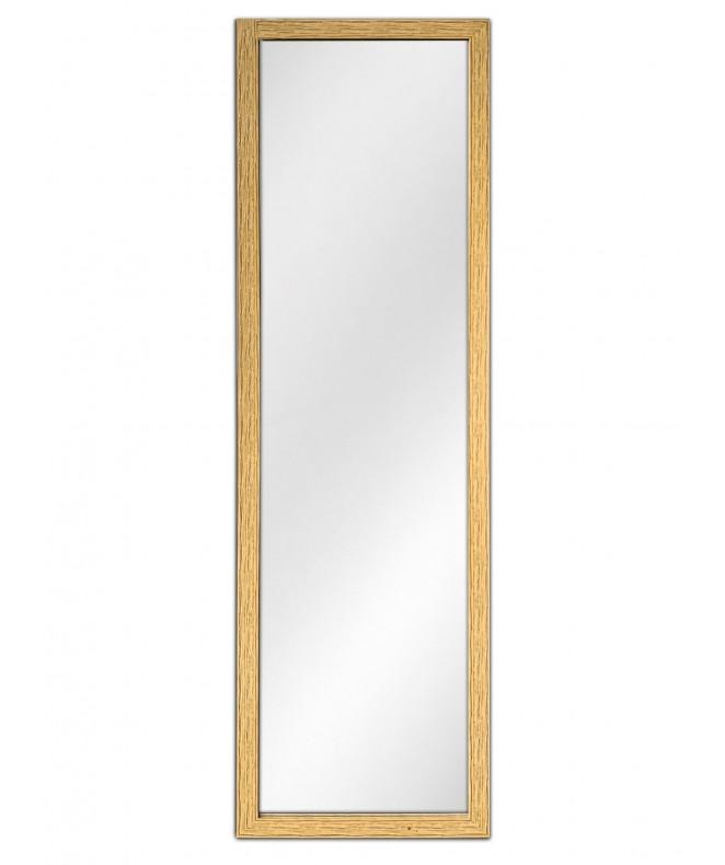 Espejo c/marco claro simil madera 35x125x1.5cm apr - ESPEJOS-